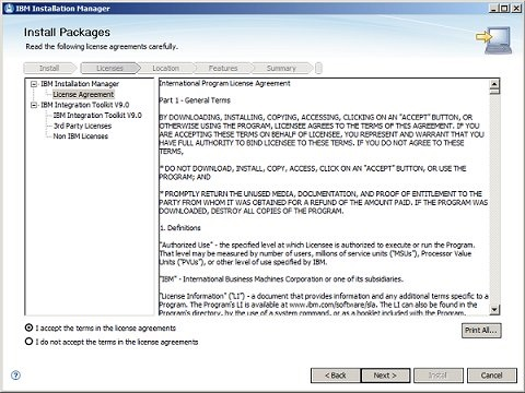 Installation Manager 2/8
