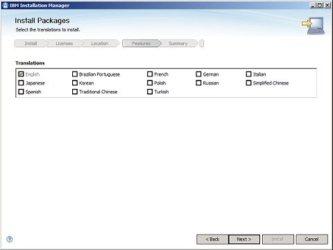 Installation Manager 5/8