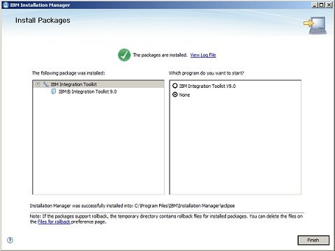 Installation Manager 8/8